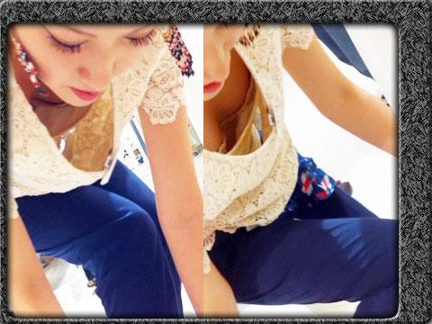 【素人】ノーパン透け透け黒パンストがエロイ美少女とハメ撮り 【無修正】